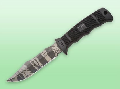 SOG Seal Pup E37TSN Elite TigerStripe W/ Nylon Sheath