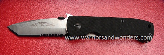 Emerson Super CQC7-SFS Satin Partially Serrated