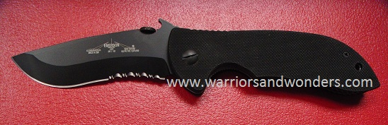 "Emerson Commander BTS Black Partially Serrated ""Wave"" Folder"