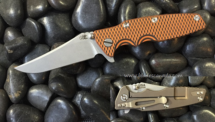 Hinderer Eklipse Bowie WF - Bronze Ano/Orange Black G10 (Online)