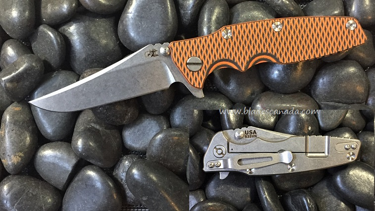 Hinderer Eklipse Bowie SW - Orange Black G10