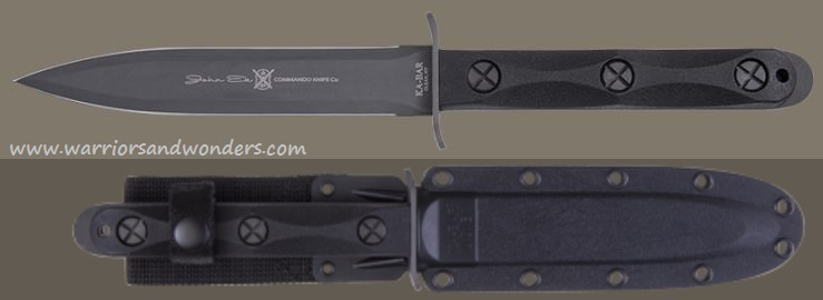 Ka-Bar EK44 John Ek Commando Model 4 Double Edge w/ Hard Sheath