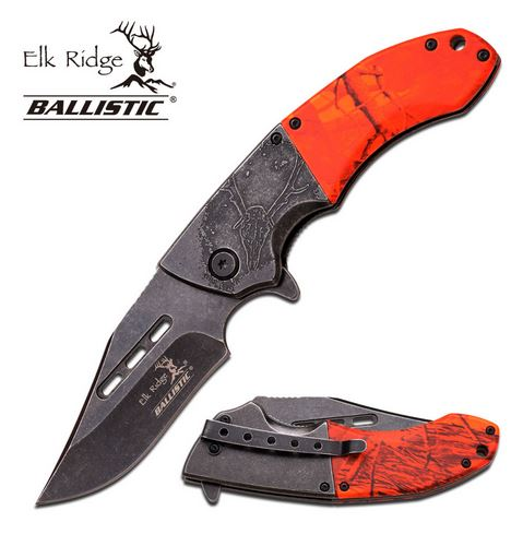 Elk Ridge ERA006OC Assisted Open Flipper - Orange (Online Only)