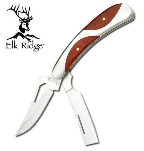 Elk Ridge ER114 Gentleman's Pocket Knife Pakkawood (Online Only)