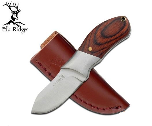 Elk Ridge ER276PW Pakkawood Fixed Blade w/Leather (Online Only)