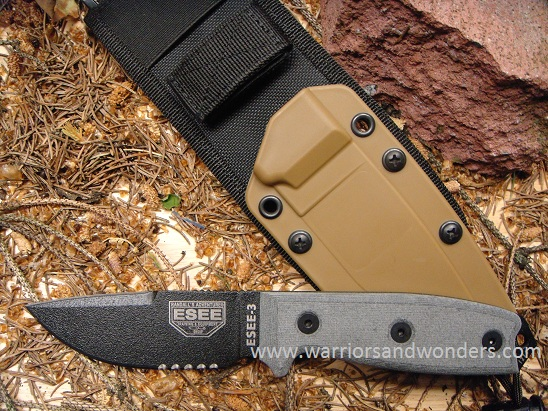 ESEE 3S-CP-MB Black Blade with Serration