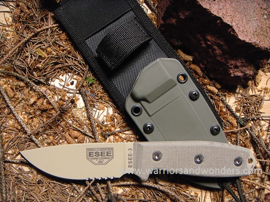 ESEE 3S-MB-DT Desert Tan Blade with Serration