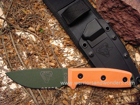 ESEE 3SM-MB-OD OD Green Blade with Serration