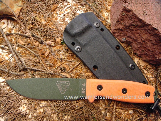 ESEE 4P-OD OD Green Plain Edge Blade