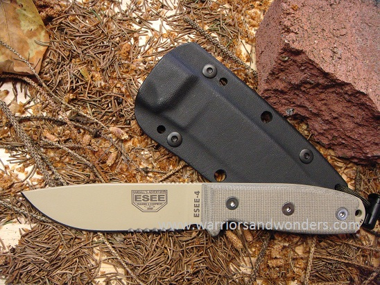 ESEE 4S-DT Desert Tan Blade with Serration