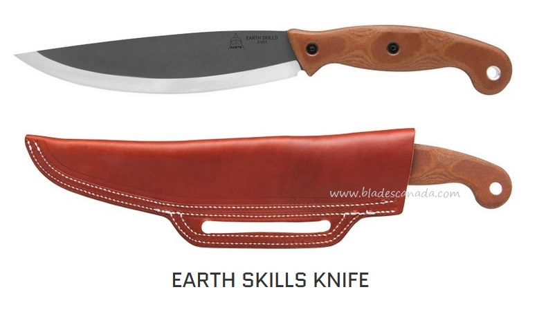 "TOPS Earth Skills Knife, 1095 Steel, Micarta Handle, 14.25"" O/A, ESK01"