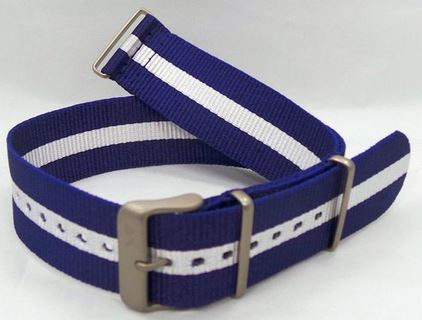 Vostok Europe NATO Ballistic Nylon Strap Blue/White 24mm