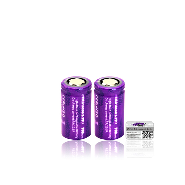 Efest IMR 18350 700 mAh Unprotected Button Top Battery