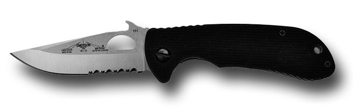 Emerson Endeavor Satin Blade w/Serration Wave Opening