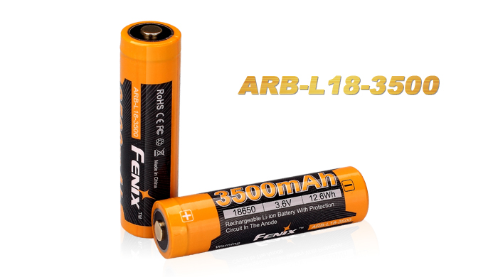 Fenix ARB-L18 Rechargeable 18650 Battery - 3500mAh