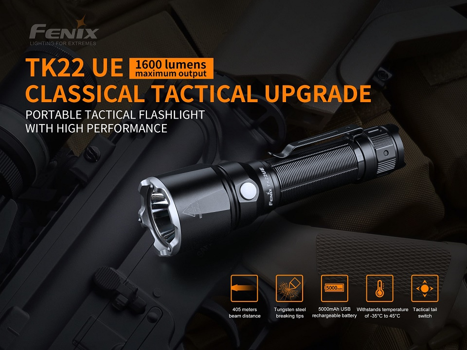 Fenix TK22UE Tactical Flashlight Ultimate Edition - 1600 Lumens