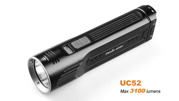 Fenix UC52 USB Rechageable Flashlight - 3100 Lumens