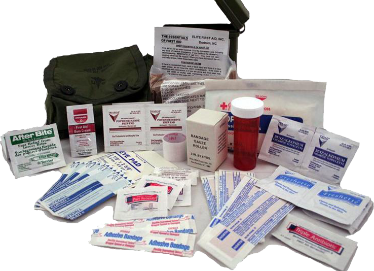 Elite First Aid FA102C Individual First Aid Kit - OD