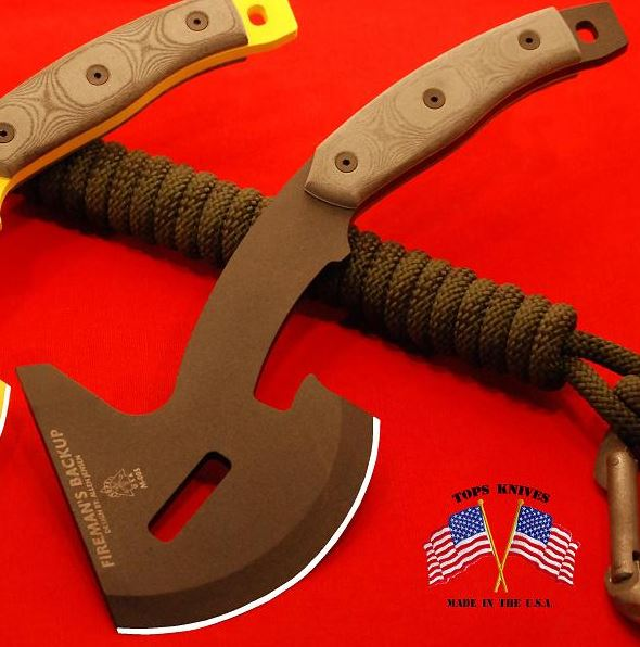 TOPS FB01 Fireman's Backup Axe w/Kydex Sheath (Online Only)