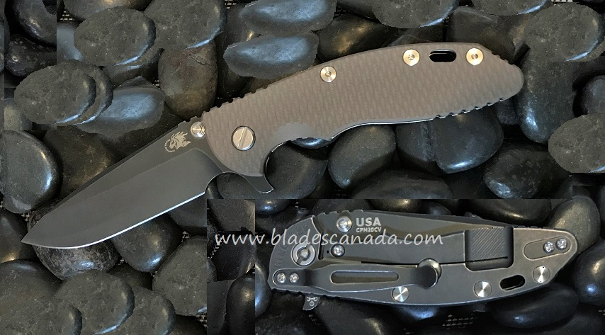 Hinderer XM-18 3.5 Gen 6 Spearpoint Battle Black - FDE G-10