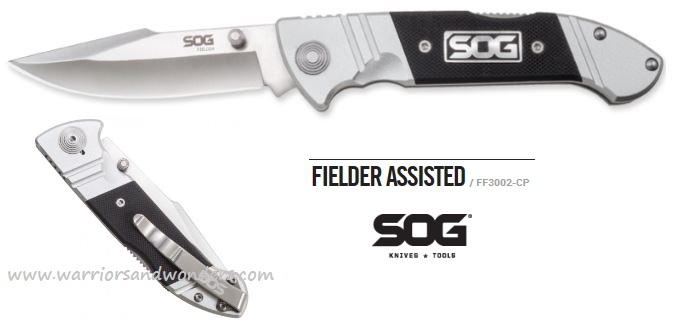 SOG FF3002 Fielder Clip Point Folder Assisted Open (Online Only)