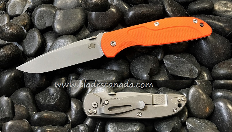 Hinderer Firetac Spearpoint Working Finish - Orange G10