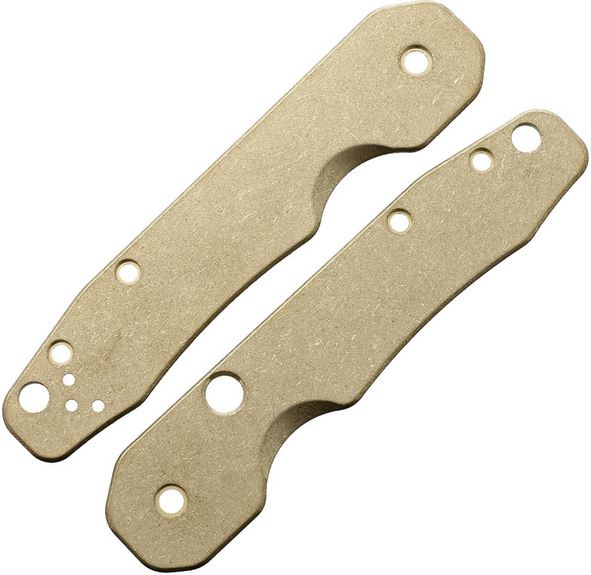 Flytanium Co. Spyderco Smock Handle Scales, Brass FLY740