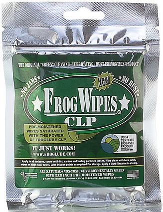 FrogLube 14936 CLP Treated Wipes 5-Pack