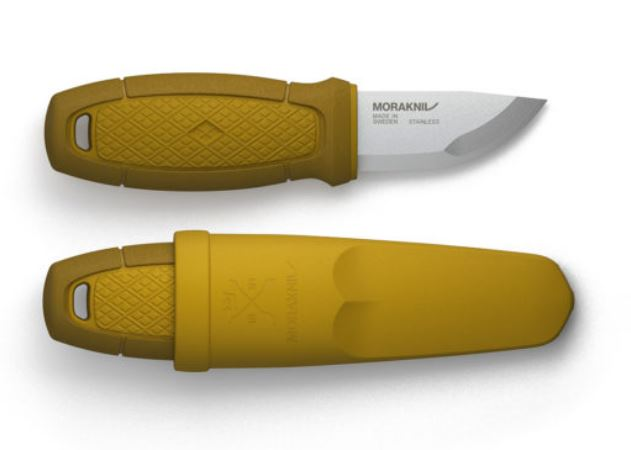 Mora Eldris 01761 Mini Fixed Knife - Yellow (Online Only)