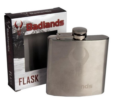 Badlands Stainless Steel Flask - 6 oz