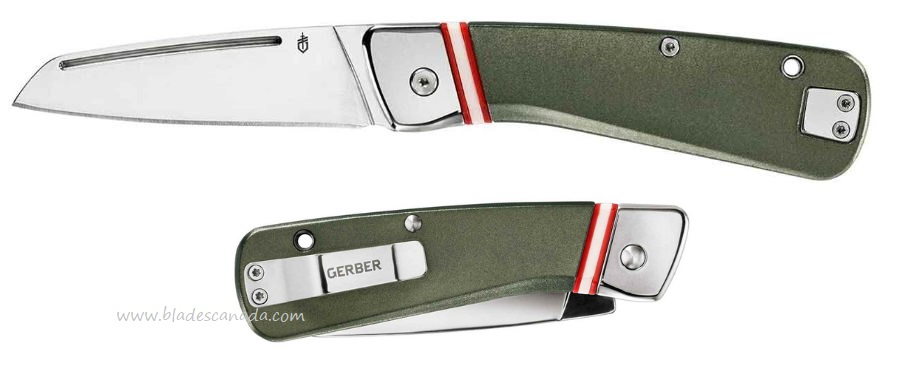 Gerber Straightlace Aluminum Handle Slipjoint Folder- Green