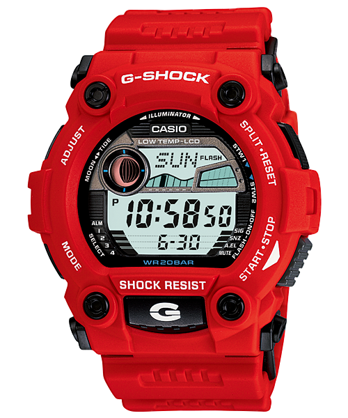 G Shock 7900A-4 Rescue Series - Red