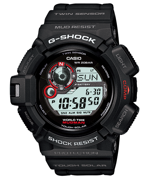 G Shock G9300-1 Mudman Solar with Compass