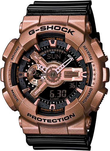 G Shock GA110GD-9B2 Big Case Series - Rose Gold