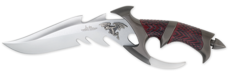X- Gil Hibben 898 Dragon Lord W/ Custom Leather Sheath