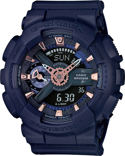 G Shock GMAS110CM-2A S Series - Deep Blue