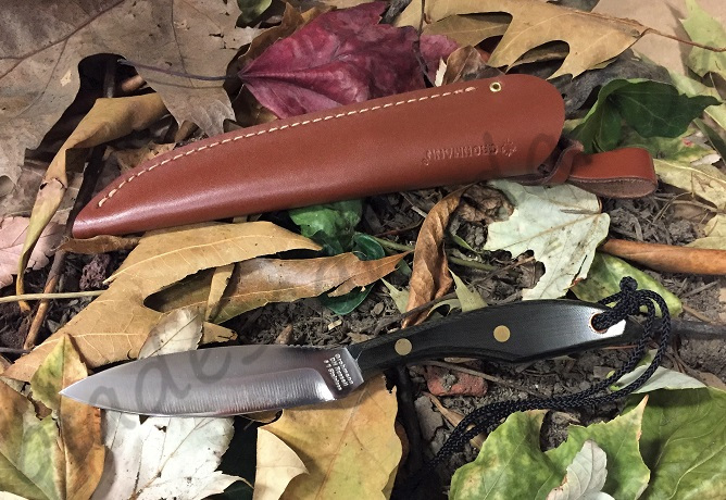 Grohmann M1S Original Belt Knife Stainless Blade- Micarta