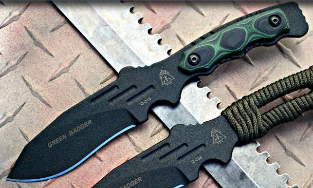 TOPS GNBR01 Green Badger w/Kydex Sheath