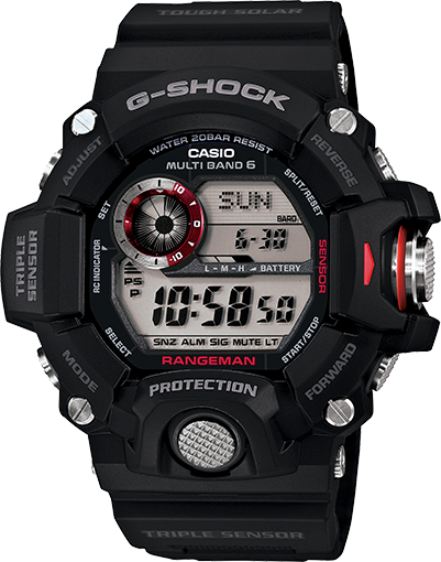 G Shock GW9400-1 Rangeman Solar Atomic - Black