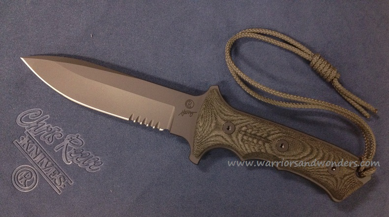 "Chris Reeve Green Beret 5.5"" Serrated Black"