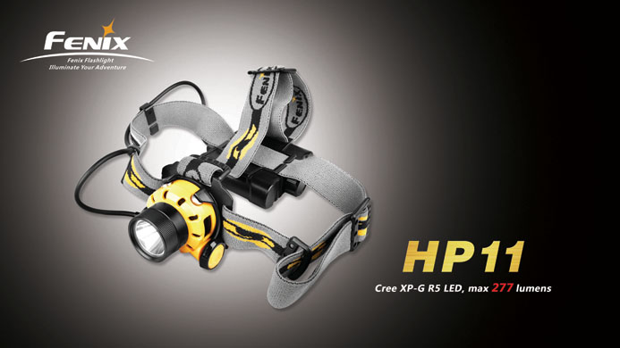 Fenix HP11 Headlamp (BLACK) - 277 Lumens