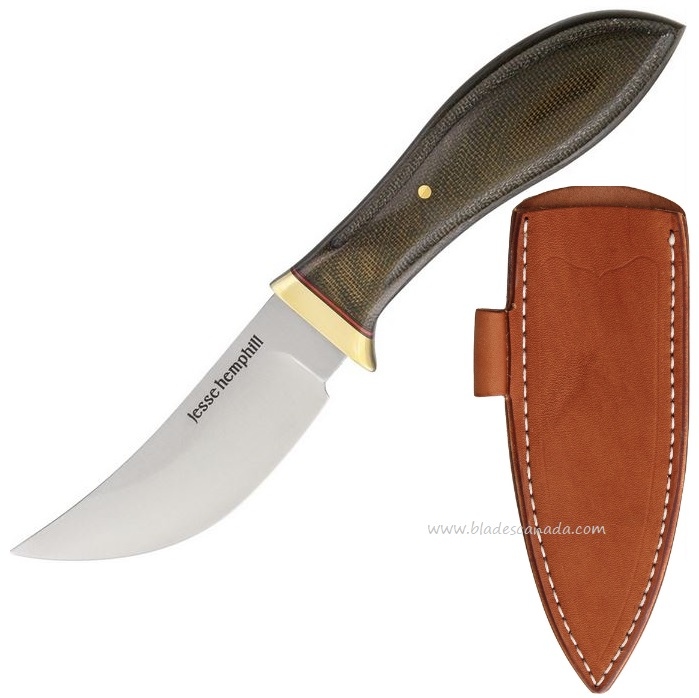 Jesse Hemphill High Falls A2 Green Canvas Micarta JH003G
