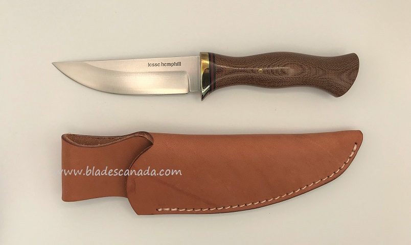 Jesse Hemphill Point Rock II A2 Natural Canvas Micarta JH005N