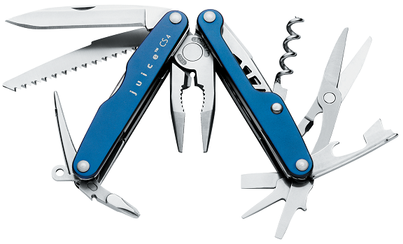 Leatherman Juice CS4 Glacier Blue Handle