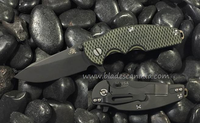 Hinderer Jurassic Folder Spear Point Black, Green/Black (Online)