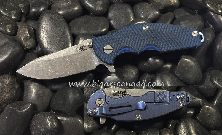Hinderer Jurassic Folder Spear Point SW - Blue Ano (Online Only)