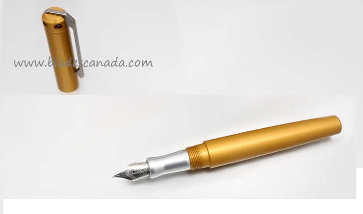 Karas Kustoms Ink Fountain Aluminum - Gold Body/Silver Grip