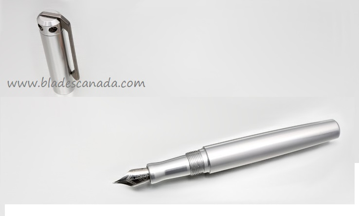 Karas Kustoms Ink Fountain Aluminum -Silver Body/Silver Grip
