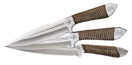 "United KR0059 Kit Rae AirCobra 9"" Throwing Knife Set (Online)"