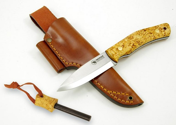 Casstrom KS13128 No. 10 Forest Knife 14C28N, Curly Birch Scales